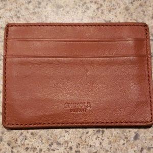 Shinola Detroit Card Holder in Bourbon